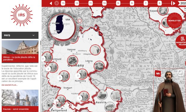 Лічбавая пілігрымка па Цэнтральнай Еўропе з езуітамі пры дапамозе прыкладання для смартфонаў